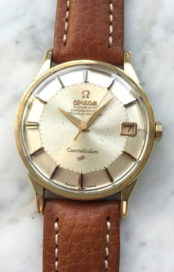 Gold Plated Omega Constellation Chronometer Pie Pan Automatic