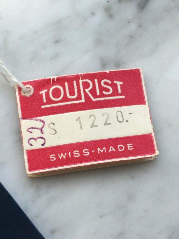 UNGETRAGENE Tourist Vintage Diver Ziffernblatt sogar mit Anhängeetikett