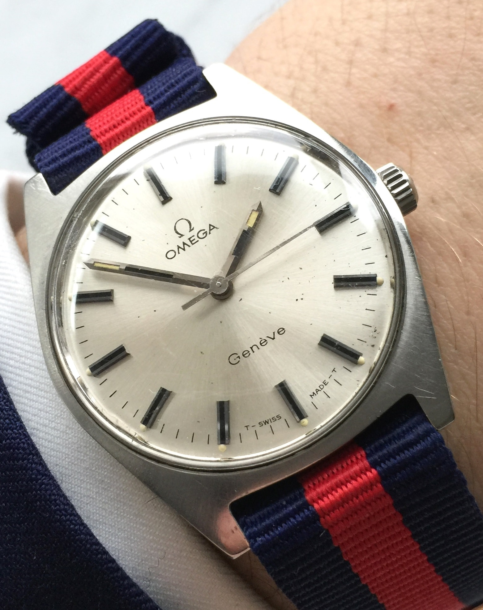 Beautiful Omega Geneve Steel with Nato Strap