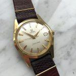 Schöne Omega Seamaster Automatik Vintage vergoldet Leinen Dial