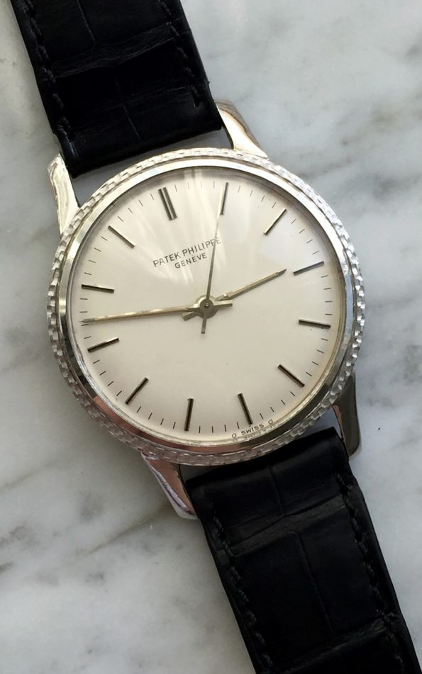 Seltene Patek Philippe Backwinder 35mm White Gold Vintage