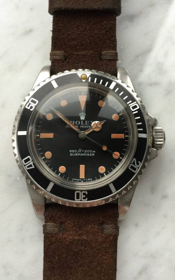 Vintage Rolex 5513 Submariner Plexi Glas JAMES BOND Model Matte Dial