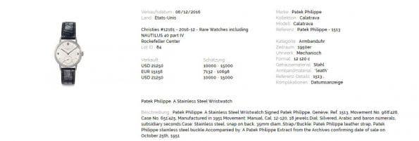 Vintage 35mm Patek Philippe Steel Unrestored Dial ref 1513