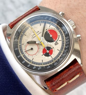 Omega Seamaster Soccer Vintage Chronograph with red strap