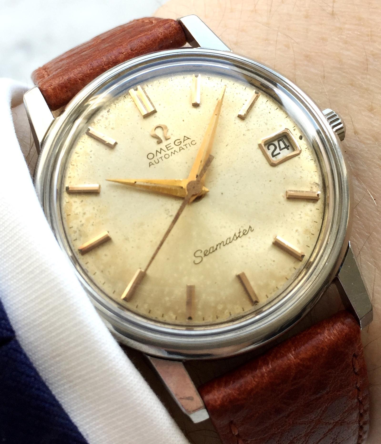 Fantastic Vintage Omega SeamasterAutomatic Date Cream Dial