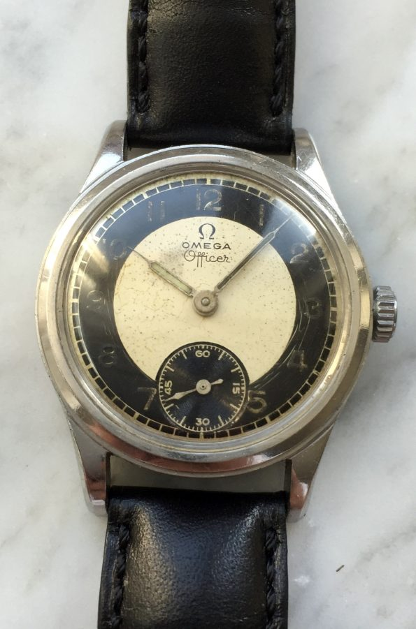 Omega Officer Two Tone Dial 31mm Watch for small hands