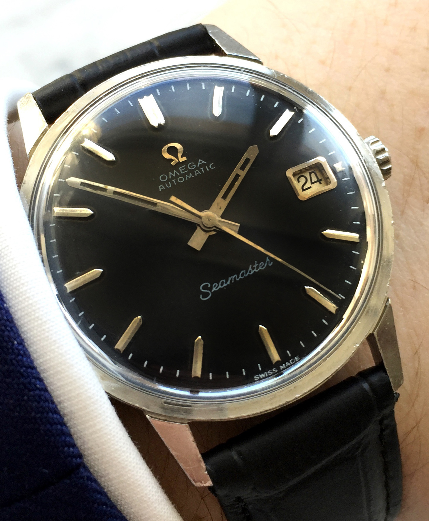 Vintage Seamaster Automatic Date Black Dial