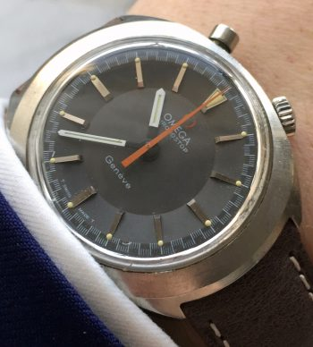 Vintage Omega Chronostop Racing Matte Grey Dial Original Condition