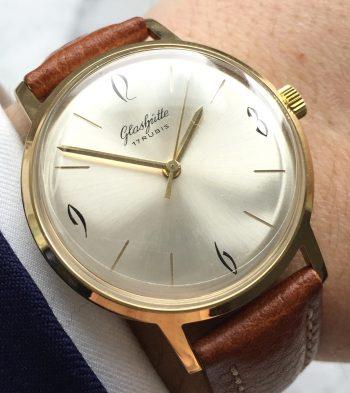 [:en]Serviced Vintage Glashütte Hand Winding Watch[:de]Servicierte Vintage Glashütte Handaufzugsuhr[:]