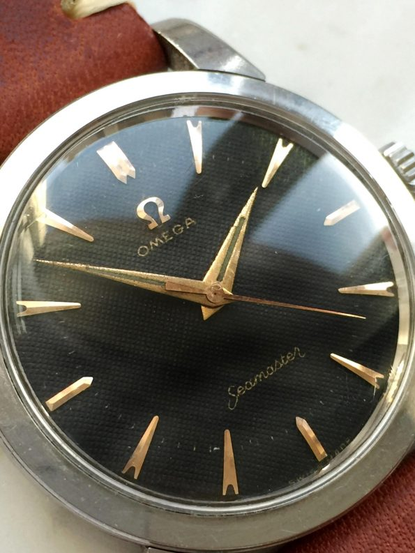 Unrestored Honeycomb Omega Seamaster Steel FAT LUGS