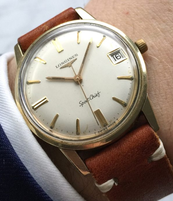 Affordable Vintage Longines Sporto Gold Plated