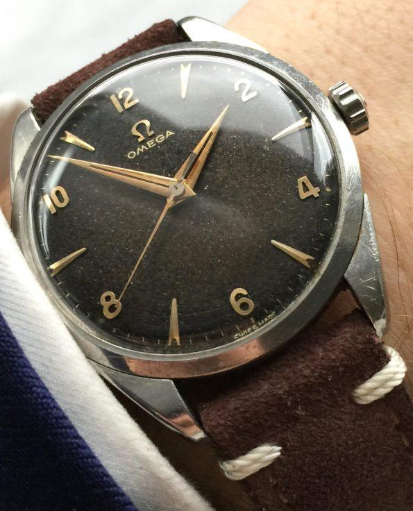 Black unrestored dial – Omega Seamaster Vintage 34mm