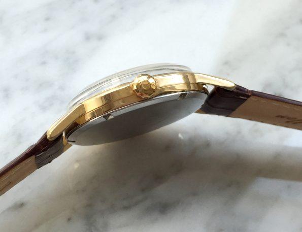 Vintage Gold Plated Omega Seamaster 30 Black Dial