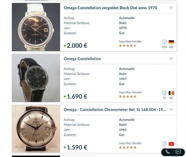 Vintage Omega Constellation Automatik Edelstahl in tollem Zustand