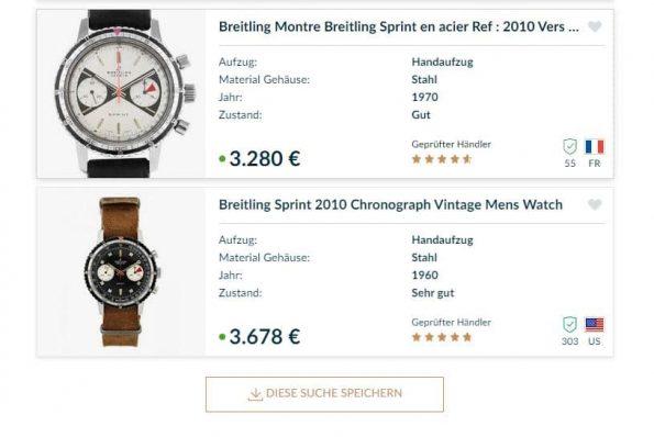 Breitling Sprint Reverse Panda Dial Vintage