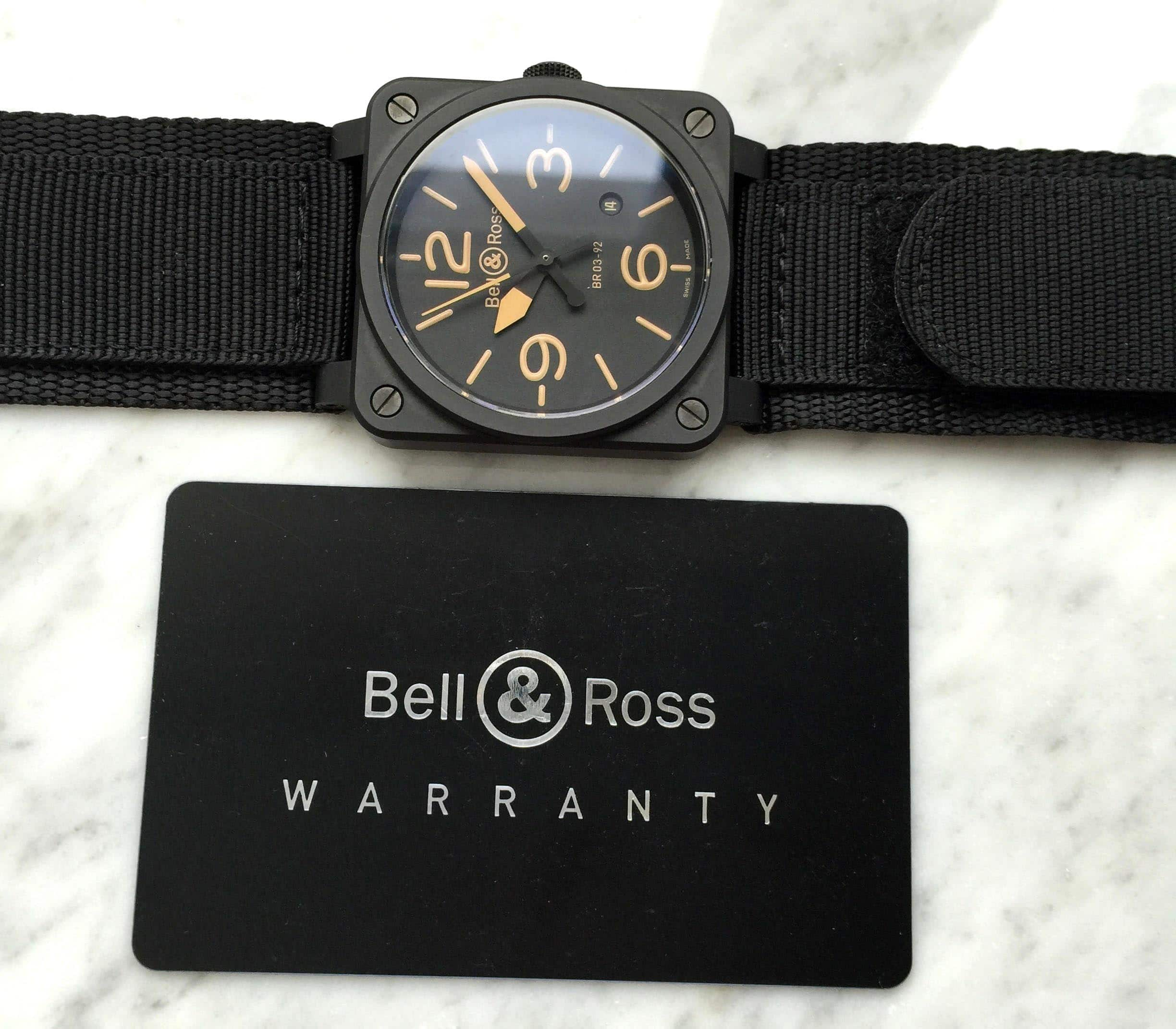 Bell & Ross BR03-92 Heritage Full Set Box Papiere