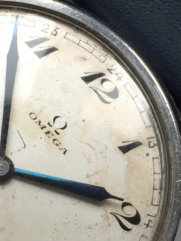 Extremely Rare 38mm Omega Oversize Jumbo Calatrava Breguet Numbers