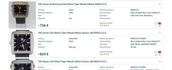 Tag Heuer Golf Watch Tiger Woods Edition Quartz