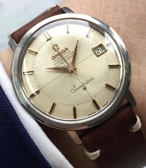 500 Euro serviced Vintage Omega Constellation Automatic Pie Pan Crosshair Dial