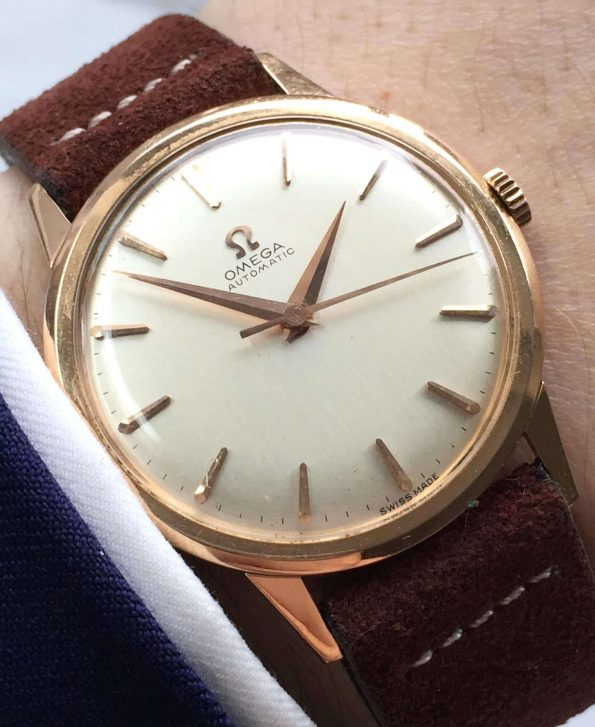 18k Solid Rose Gold Omega Automatic Vintage