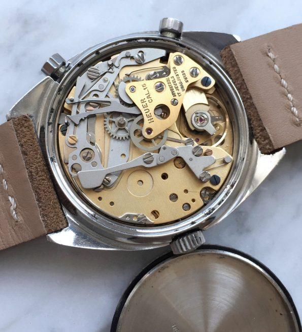 Vintage Heuer Carrera Chronograph Blaues Ziffernblatt