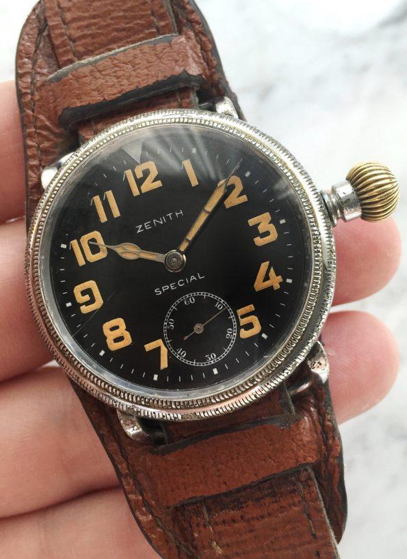 Vintage Zenith Special Military Pilots Watch Oversize Jumbo ww2 wk2