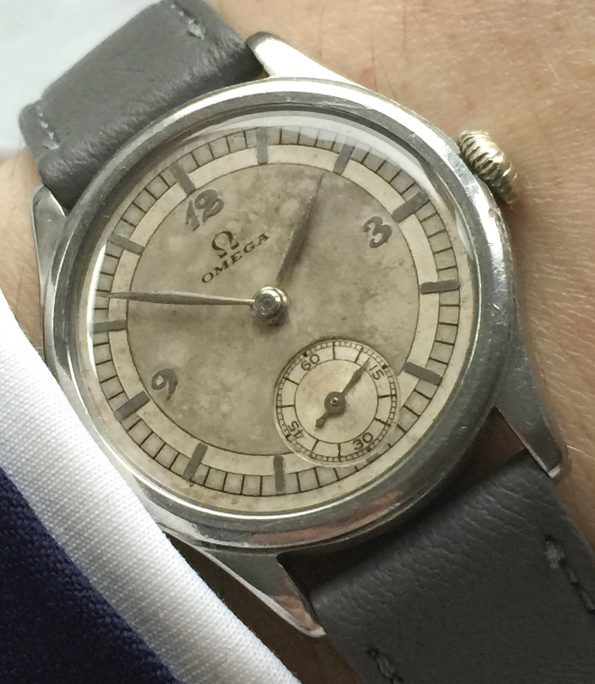 Extremely Rare 31mm Omega Sector Dial with Breguet-Numbers Waterproof Case Calatrava