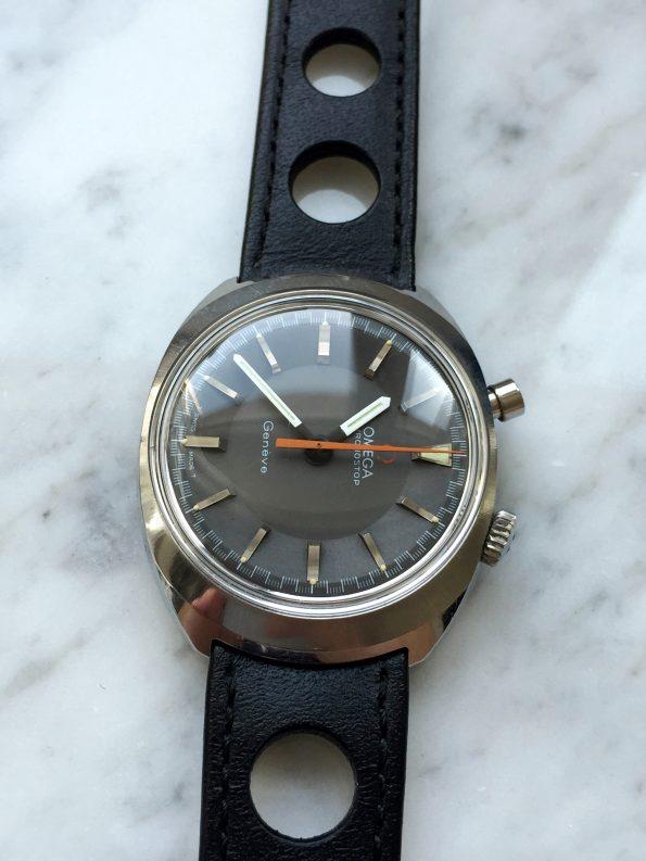 Vintage Omega Chronostop Racing Matte Grey Dial Original Condition