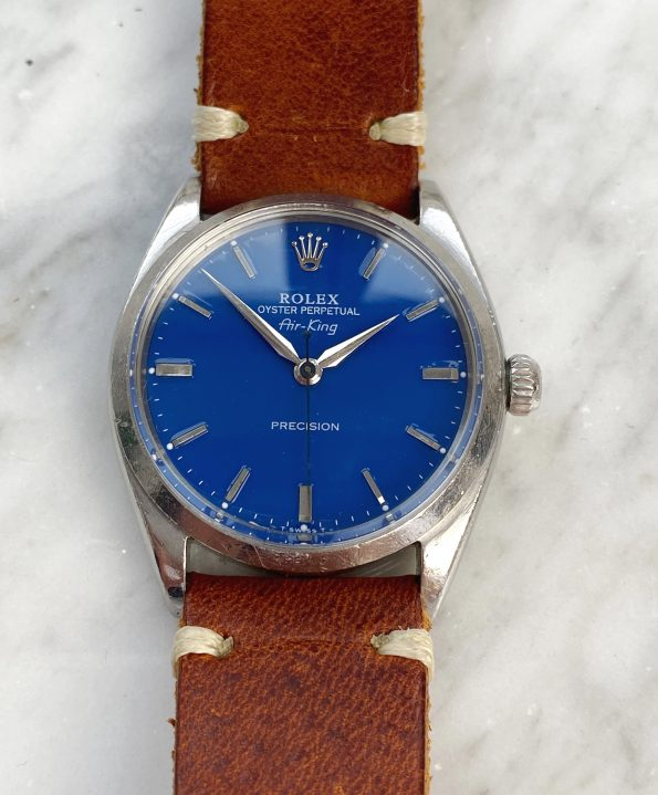 Serviced Rolex Air King Automatic wonderfully restored blue dial Vintage