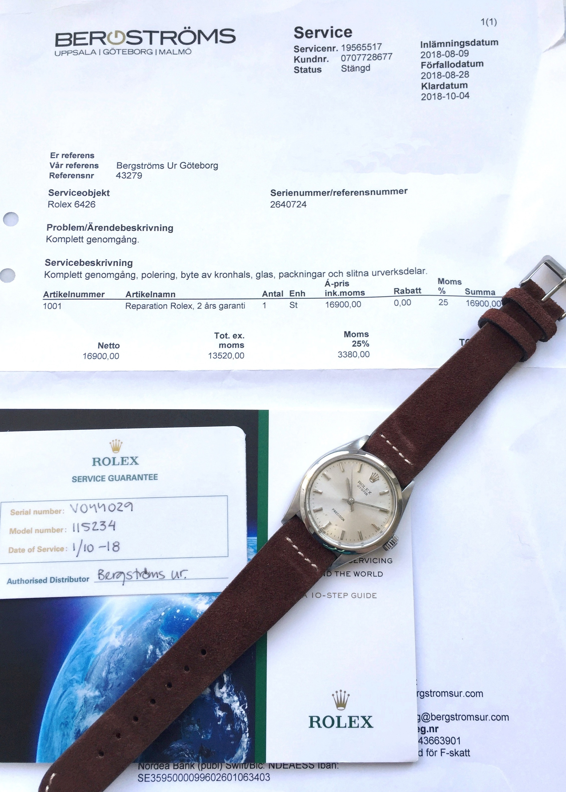Rolex Oyster Precision Ref 6426