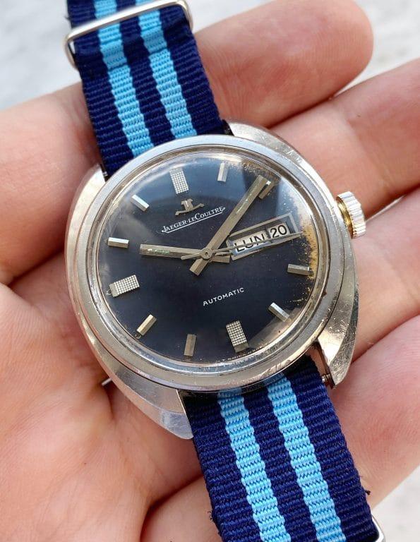 Jaeger LeCoultre Vintage Blaues Ziffernblatt Automatik Day Date