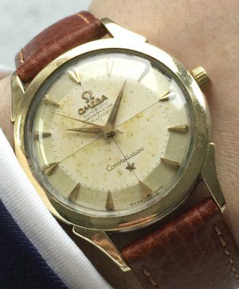 Omega Constellation Pie Pan Automatik Crosshair dial