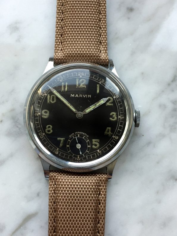 39mm Big Vintage Military Marvin Calatrava Non Magnetic