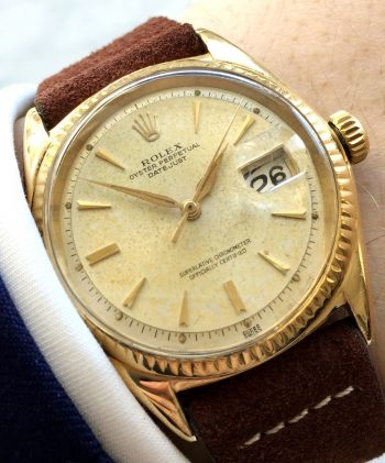 [:en]Vintage Rolex Datejust Solid Gold rare[:de]Vintage Rolex Datejust Vollgold SELTEN[:]