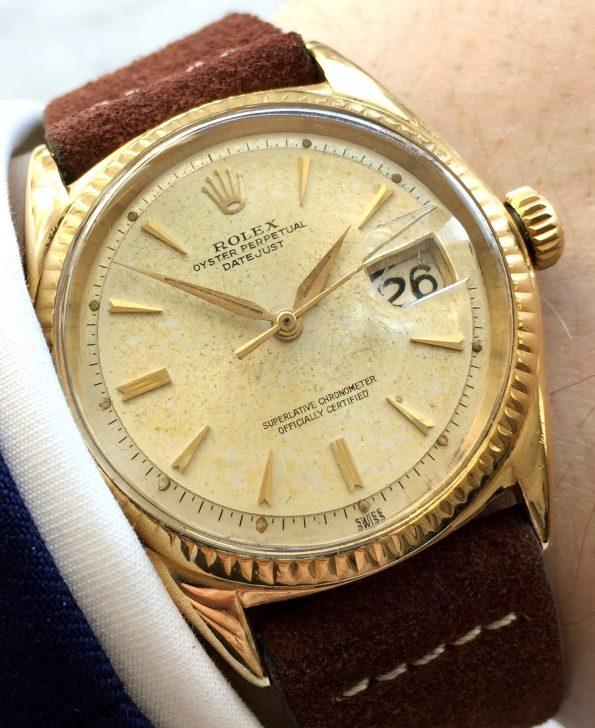 Vintage Rolex Datejust Vollgold SELTEN