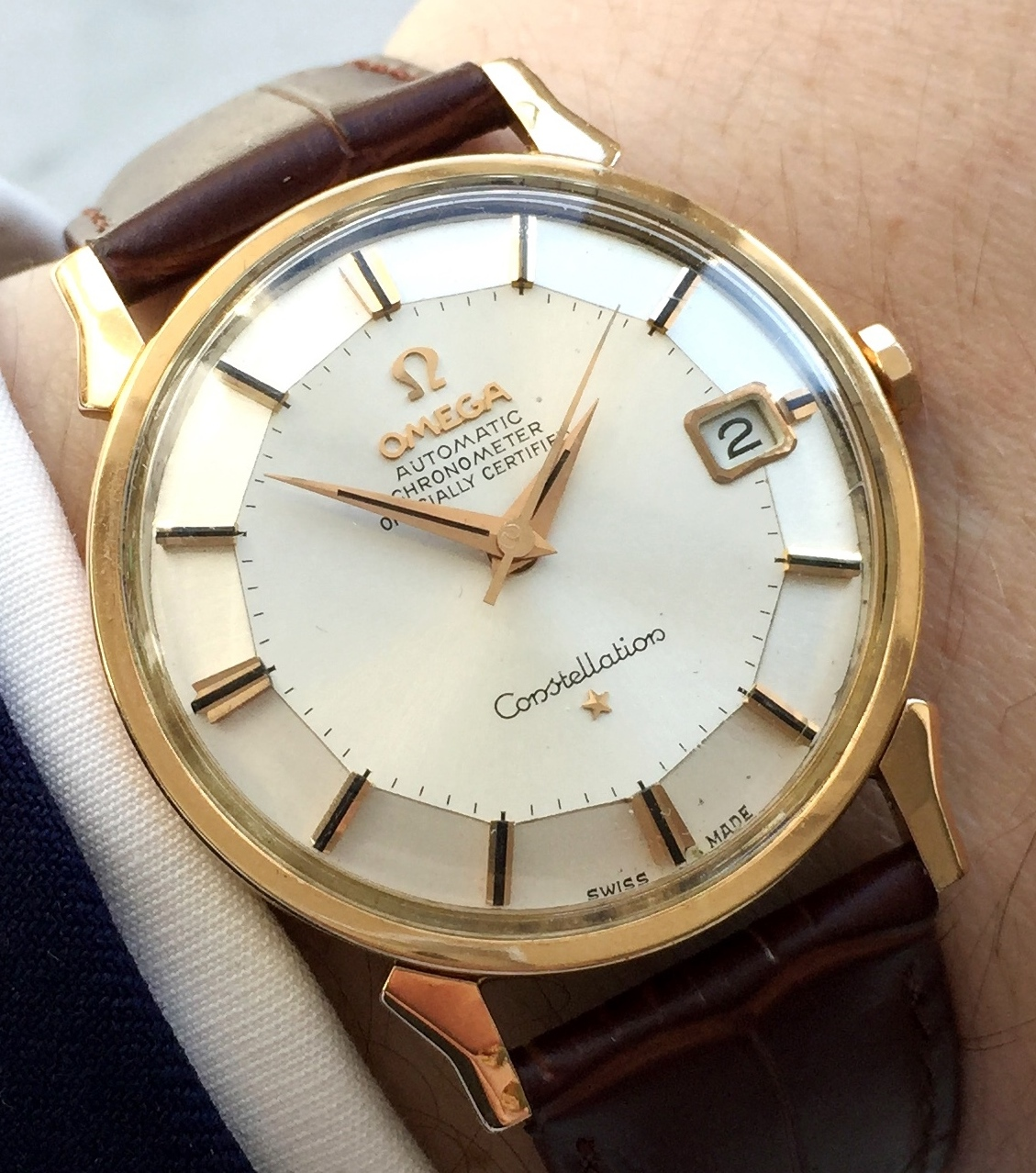 Omega Constellation Pie Pan Solid Gold Automatic