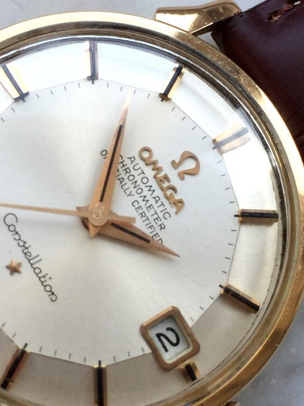 Great Omega Constellation Pie Pan Solid PINK Gold Automatic