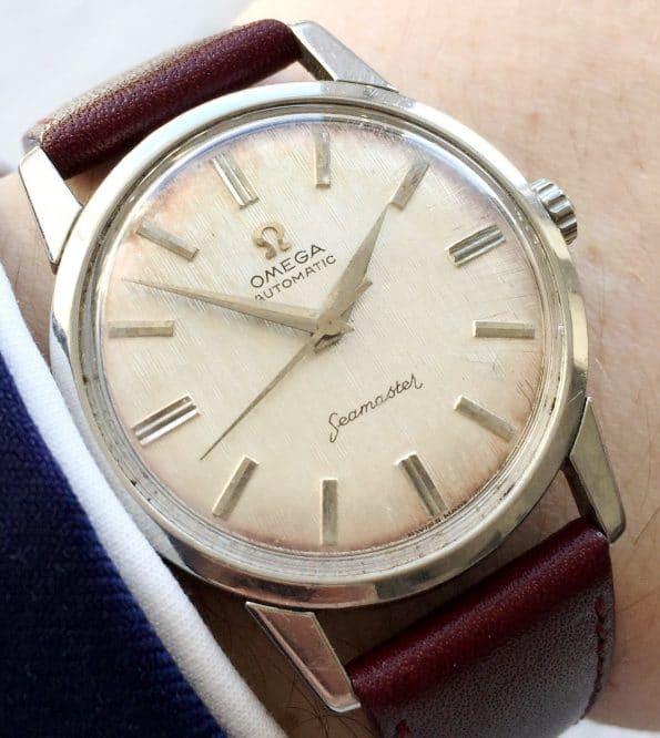 Amazing Linen Dialed Omega Seamaster Automatic Vintage