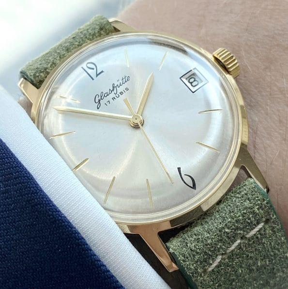 Vintage Gub Glashütte Handwinding with Date