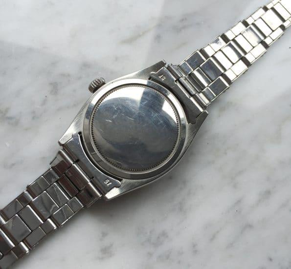 Seltene 50er Vintage Rolex Oyster Precision Honeycomb Ziffernblatt Stahlband