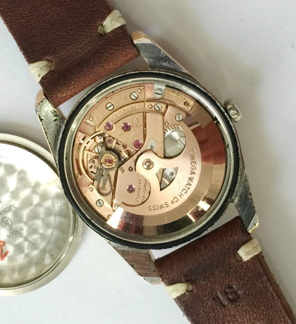 Vintage Rose Gold Plated Omega Seamaster Automatic Date