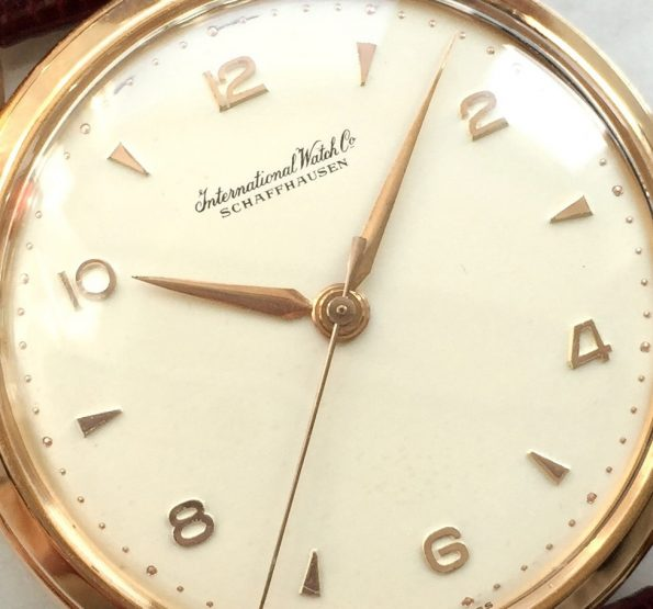 Serviced IWC Vintage Solid Gold Fancy Lugs