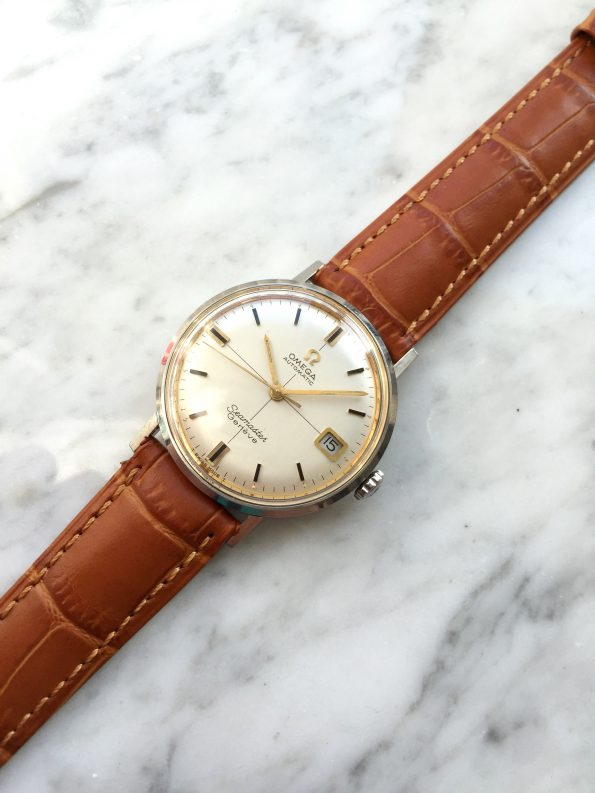Gorgeous Omega Seamaster Genève Automatic Date CROSSHAIR Dial