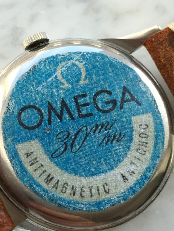 Vintage Omega JUMBO Handwinding Crab Lugs with Intact Caseback Sticker