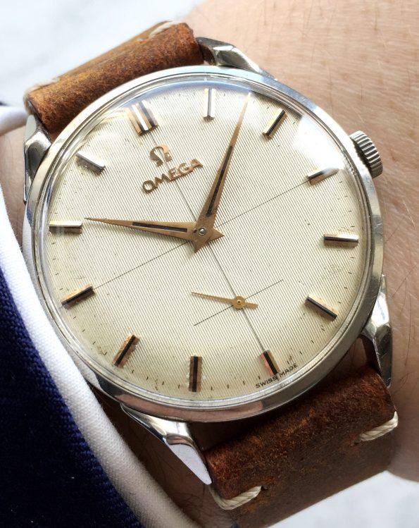 Vintage Omega JUMBO Handaufzug SCARAB Bandanstösse TOP ZUSTAND