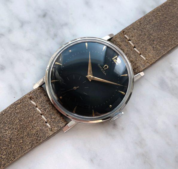 White 30t2 Omega Oversize Jumbo Vintage Restored Black Dial