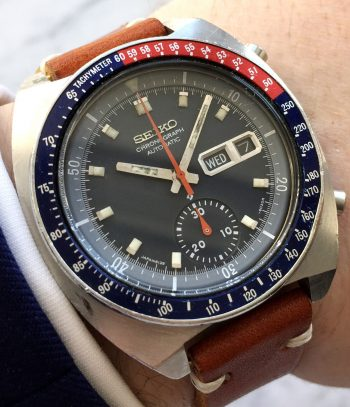 Serviced Seiko Pepsi Pogue Chronograph Automatic Vintage