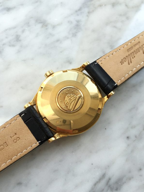 Gorgeous Omega Constellation Automatic Solid Gold with Golden Linen Dial
