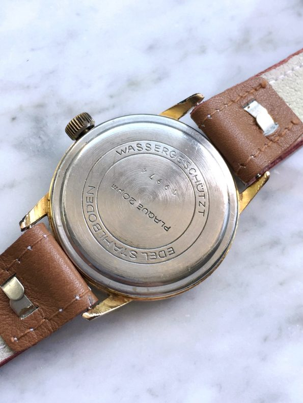 Vintage GUB Glashütte Handwinding Gold Plated Wristwatch