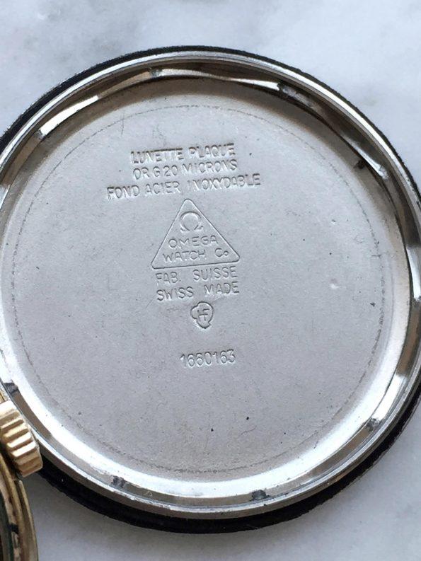 Seltene Vintage Omega Geneve Automatik Burgundrotes Ziffernblatt